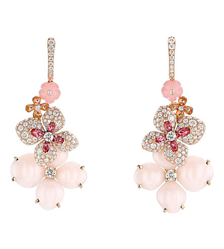 CHAUMET Hortensia 18ct pink-gold diamond earrings