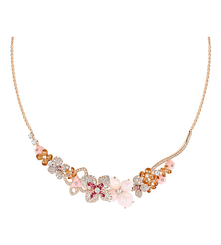 CHAUMET Hortensia 18ct pink-gold and diamond necklace