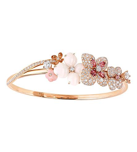 CHAUMET Hortensia 18ct pink-gold diamond bracelet