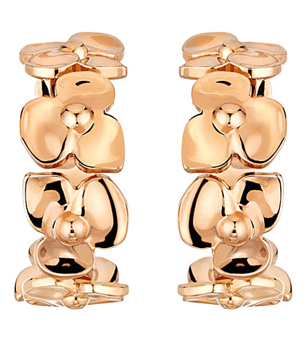 CHAUMET Hortensia 18ct pink-gold earrings