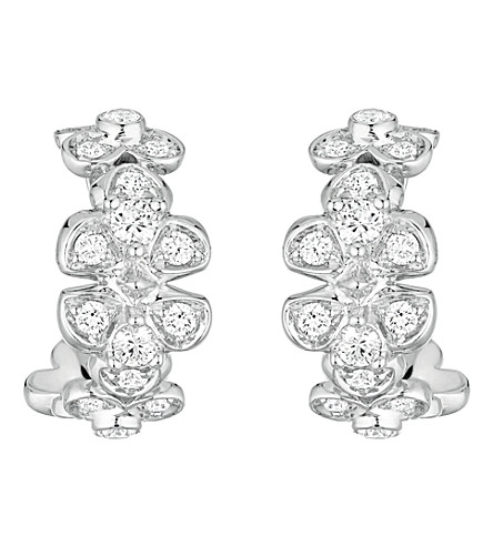 CHAUMET Hortensia 18ct white-gold and diamond earrings