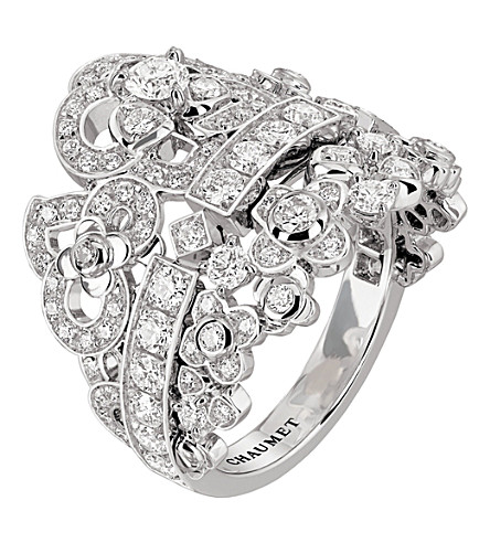 CHAUMET Hortensia 18ct white-gold diamond ring