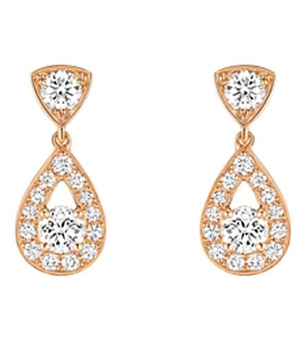 CHAUMET Joséphine 18ct 粉红色黄金和钻石耳环