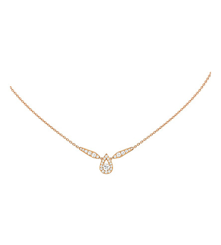 CHAUMET Joséphine 18ct pink-gold and diamond pendant necklace