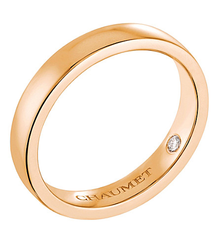CHAUMET Plume 18ct rose-gold secret diamond wedding band