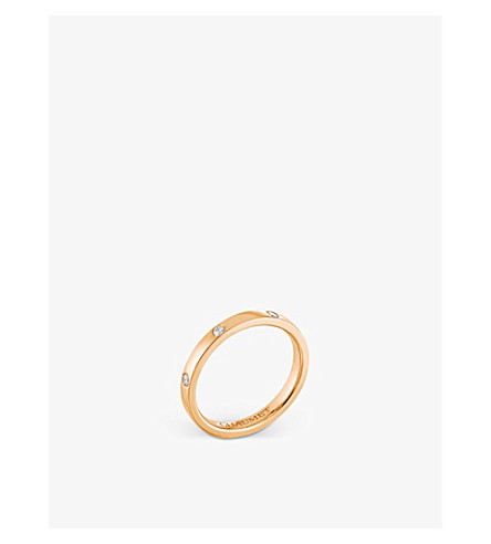 CHAUMET Les Eternelles Rubans 18ct rose-gold and diamond wedding band