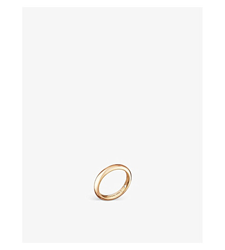CHAUMET Fidélité 18ct yellow-gold diamond wedding band