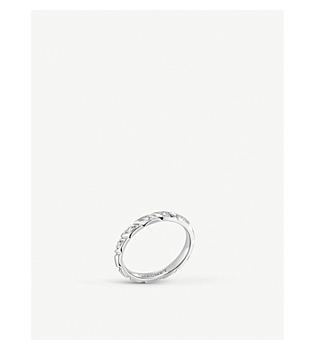 CHAUMET Torsade platinum and diamond wedding band