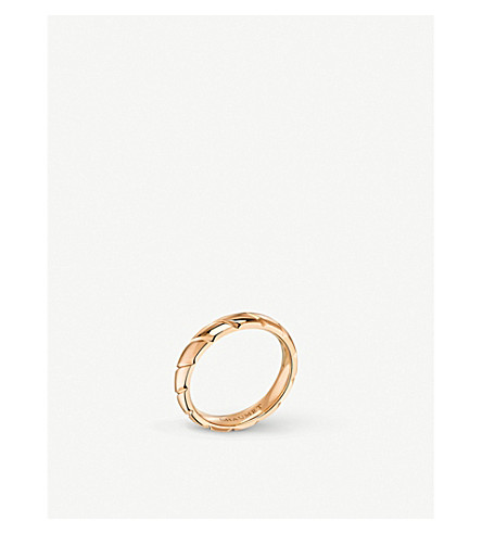 CHAUMET Torsade 18ct rose-gold wedding band