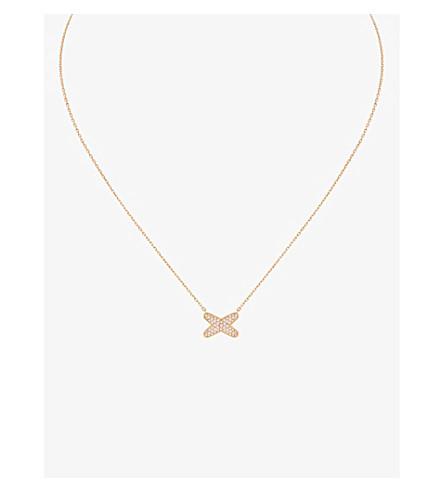 CHAUMET Jeux de Liens 18ct rose-gold diamond pendant necklace