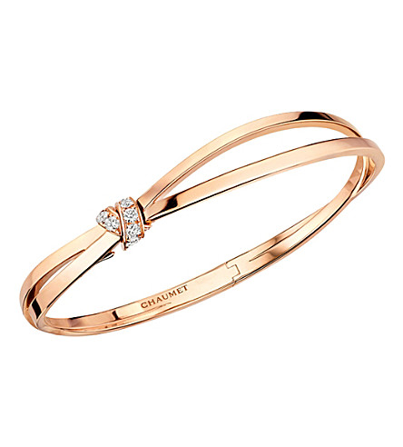 CHAUMET Liens Séduction 18ct rose-gold and diamond bracelet