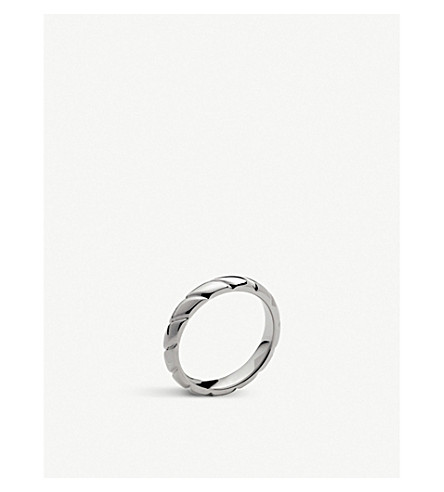 CHAUMET Torsade de Chaumet platinum flat wedding band