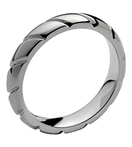 CHAUMET Torsade de chaumet platinum round wedding band