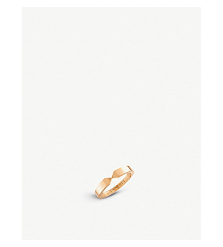CHAUMET Plume 18ct rose-gold wedding band