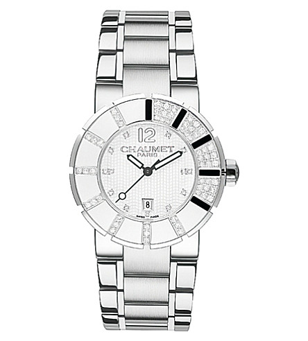 CHAUMET W1722833E Class One stainless steel diamond and rubber watch