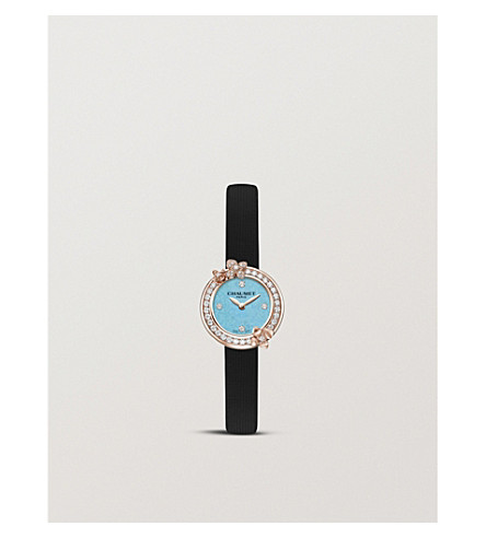 CHAUMET W20811-11T Hortensia Eden 18-carat rose-gold and diamond watch