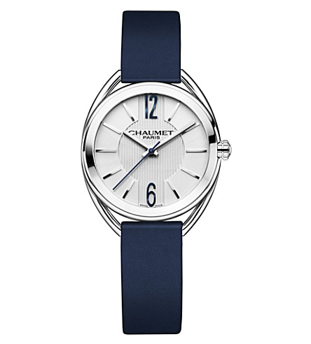 CHAUMET W2321001A Liens stainless steel and leather watch