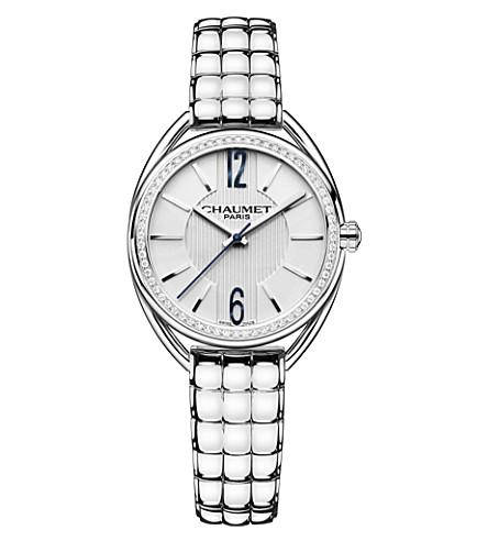 CHAUMET W2361101A 留置权不锈钢和钻石手镯手表
