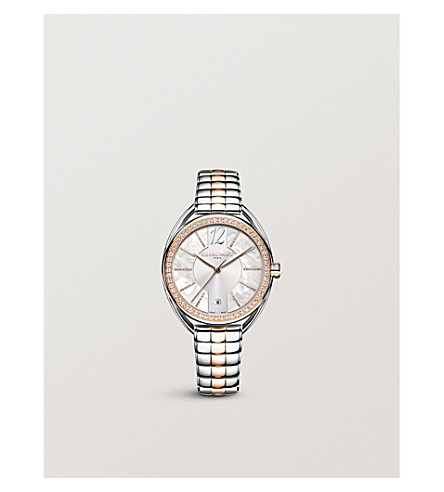 CHAUMET W23772-23A Liens Lumieres steel, 18-carat rose-gold and diamond watch