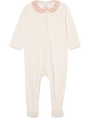 PETIT BATEAU Plain cotton sleepsuit 0-12 months