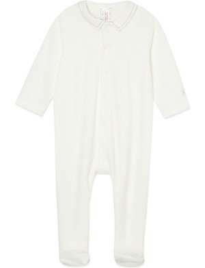 PETIT BATEAU Plain cotton sleepsuit small newborn-12 months