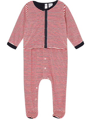 PETIT BATEAU Jacket and sleepsuit set 0-12 months