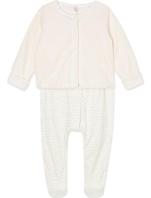 PETIT BATEAU Cotton sleepsuit and jacket set 0-12 months