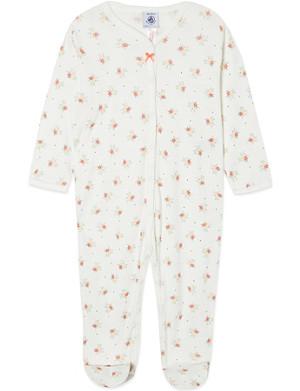 PETIT BATEAU Brushed cotton sleepsuit 1-24 months
