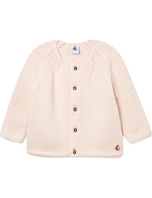 PETIT BATEAU Baby girl pure wool knitted cardigan 3-36 months