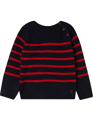 PETIT BATEAU Striped knitted jumper 3-36 months