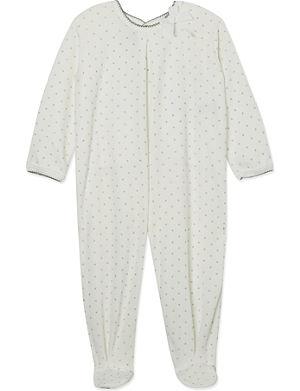 PETIT BATEAU Shiny polka dot sleepsuit 1-24 months
