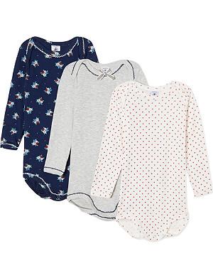 PETIT BATEAU Cotton bodysuits triple pack 1-24 months