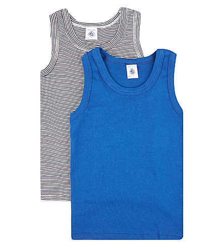 PETIT BATEAU Pack of two cotton vests 2-12 years (Multicolor+set
