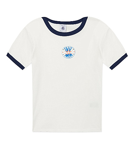 PETIT BATEAU Star-print cotton t-shirt 2-12 years (White