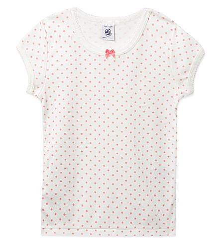 PETIT BATEAU Star print cotton t-shirt 2-12 years (White