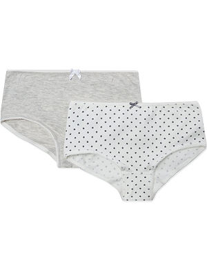 PETIT BATEAU Pack of two cotton stretch shorty briefs 2-12 years