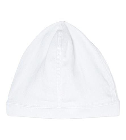 PETIT BATEAU Classic bonnet 0-3 months (Ecumewhite