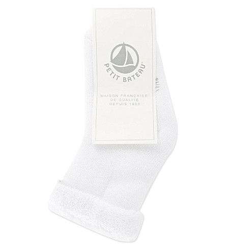 PETIT BATEAU Cotton socks 0-12 months (Ecumewhite