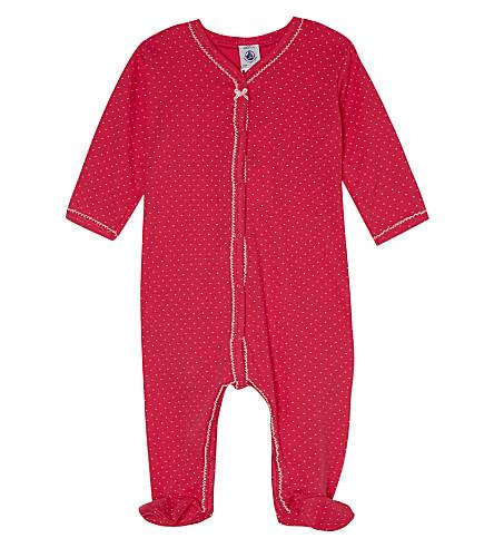 PETIT BATEAU Spotted cotton sleepsuit 1-24 months (Geishared/viennepink