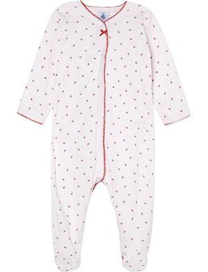 PETIT BATEAU Strawberry print sleepsuit 1-24 months