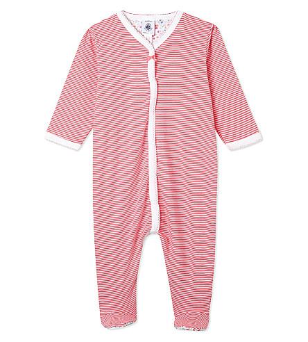 PETIT BATEAU Striped sleepsuit 1-24 months (Geishared/ecumewhite