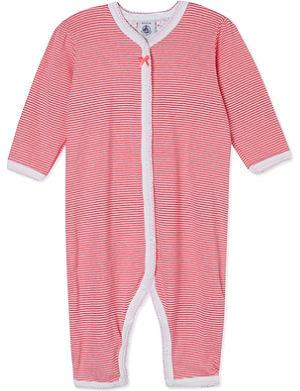 PETIT BATEAU Striped cotton sleepsuit 3 months-4 years