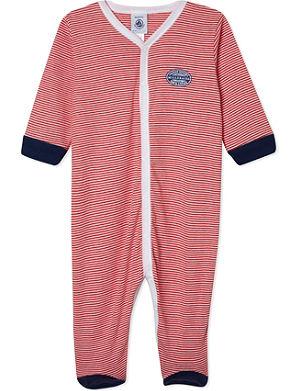 PETIT BATEAU Striped sleepsuit 1-24 months