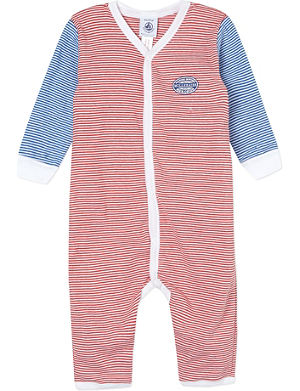 PETIT BATEAU Striped sleepsuit 3 months-4 years