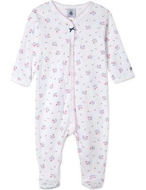 PETIT BATEAU Floral-print sleepsuit 1-24 months