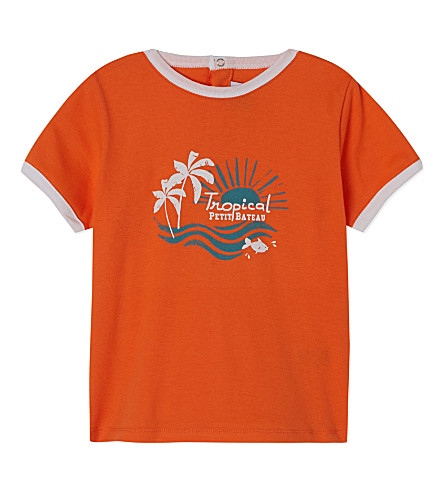 PETIT BATEAU Short sleeve t-shirt 3-36 months (Carottorange