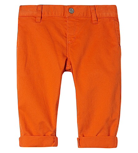 PETIT BATEAU Stretch-cotton trousers 3-36 months (Carottorange