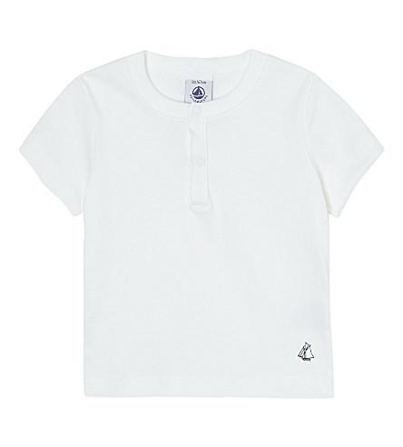 PETIT BATEAU 短袖 t-shirt 3-36 月 (Ecumewhite
