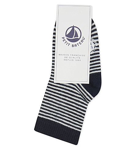 PETIT BATEAU Striped socks 3-12 months (Blue