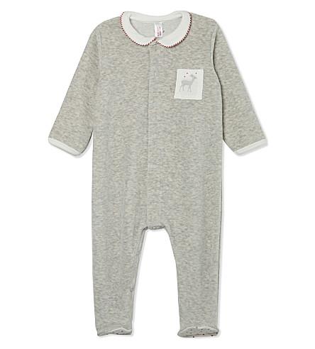 PETIT BATEAU Cotton baby-grow Newborn-12 months (Grey